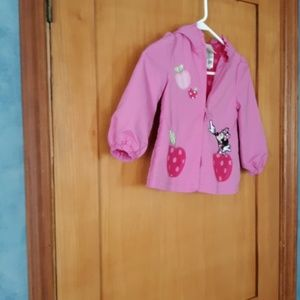 Disney hooded  pink jacket with minnie